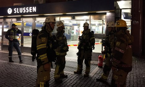 Stockholm metro station evacuated after fire