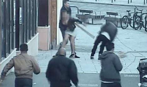 Man attacked by racist thug in UK street for talking Spanish