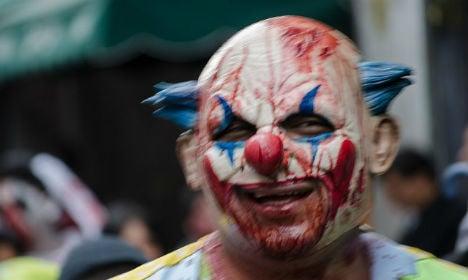 Three boys chased by axe-wielding clown in Denmark