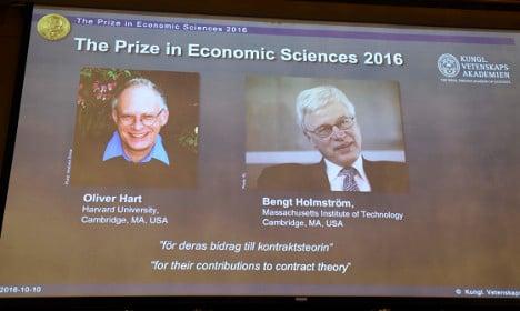 Who are the 2016 Nobel Economics Prize winners?