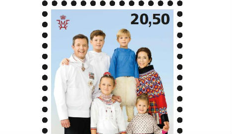 Danish royals pose for stamp in Greenlandic costume