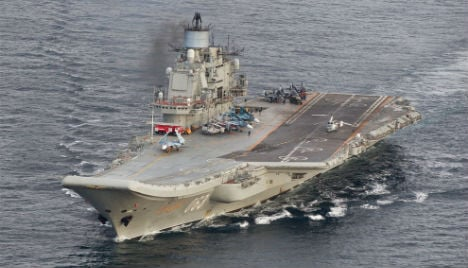 Russian aircraft carrier passes Norway on way to Syria
