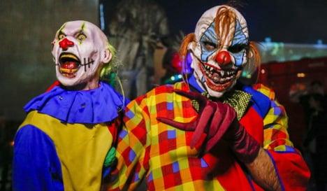 Armed clown threatens two men in west Germany