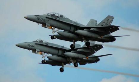 F-18s scrambled to intercept Russian bombers off Bilbao