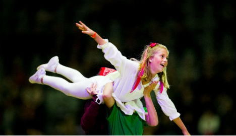 Norway's acrobatic royals show off horse skills
