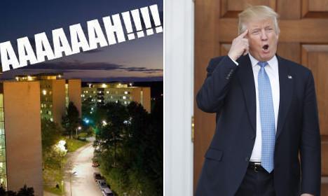 Students turn Swedish viral scream into Trump protest