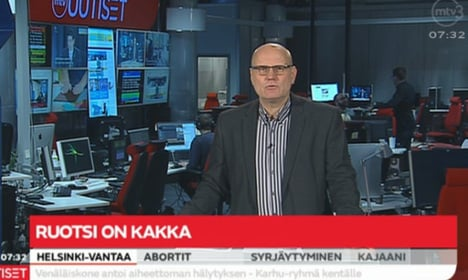 Finnish TV channel: 'Sweden is crap'