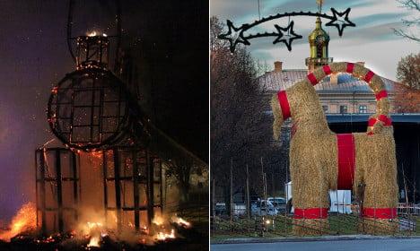 Swedes hope to rebuild burned-down yule goat