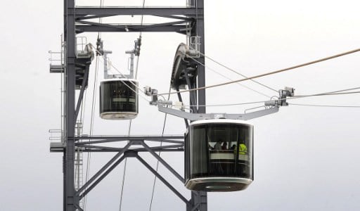 France's first urban cable car runs into trouble after two weeks