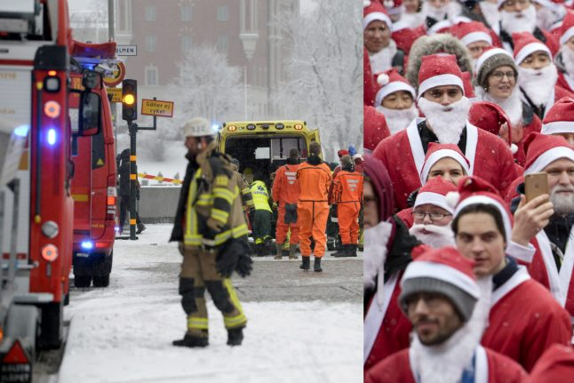 Stockholm festive events end in watery drama