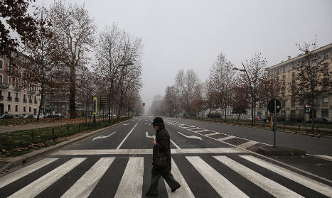 Rome blocks cars and scooters as Italy's major cities fight smog