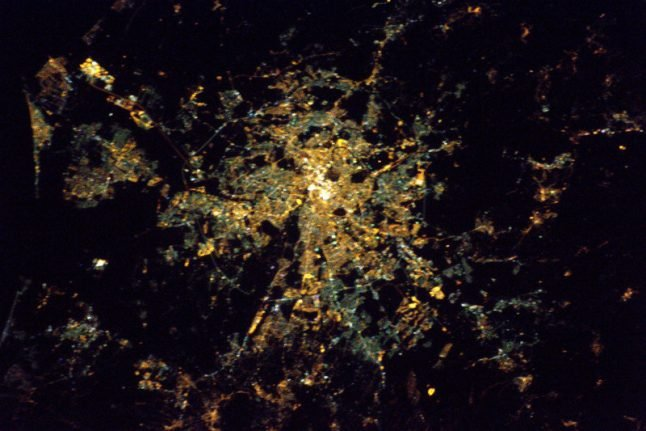 French astronaut watches Lyon's festival of light from space