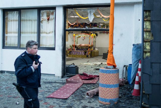 Three on trial for jihadist bomb attack on Sikh wedding