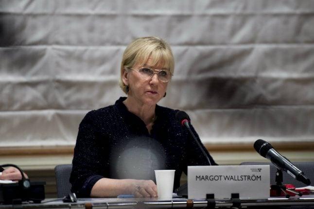 Swedish foreign minister Wallström visits West Bank