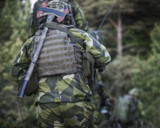 Swedish soldier reports attack by unknown assailants during exercise