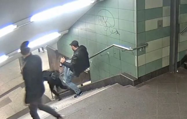 Man arrested for kicking woman down Berlin U-Bahn stairs