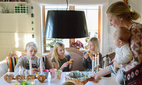 In pictures: Tour this unusal Swedish home at Christmas