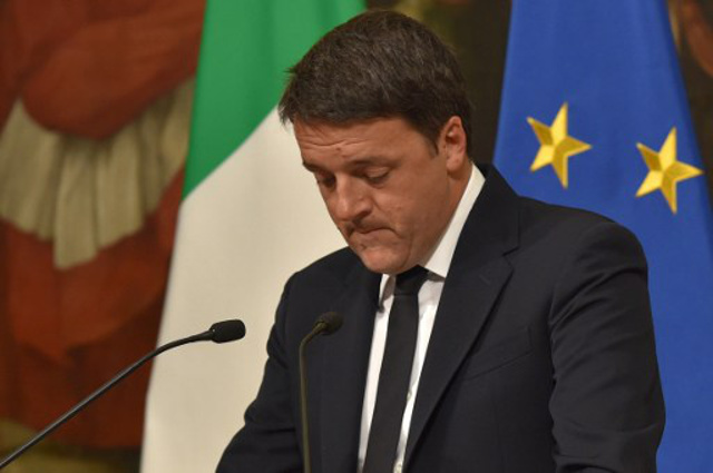 Italy's Renzi to resign on Wednesday evening