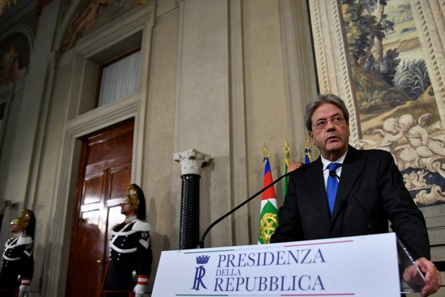 Gentiloni named as Italy's new prime minister