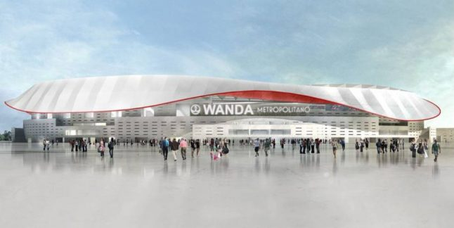 New Atletico Madrid stadium to be named Wanda Metropolitano