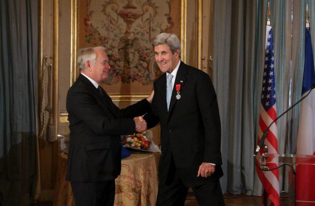 John Kerry given France's highest honour