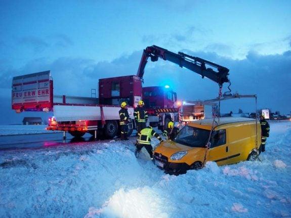 Storm 'Axel' drops polar freeze over Austria