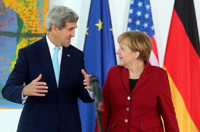 Kerry: Trump's criticism of Merkel 'inappropriate'