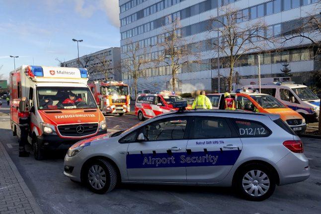 Three seriously injured in bus crash at Frankfurt airport