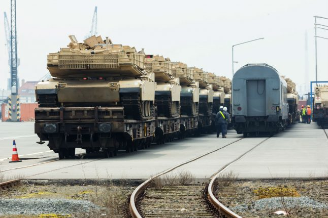 US tank brigade arrives in Germany for eastern deployment