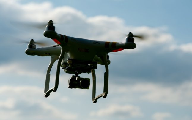 Drone crashes into car on Autobahn outside Munich