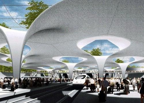 Take a virtual tour of Stuttgart's futuristic new train station