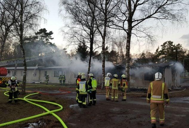 Five arrests made after arson at refugee home