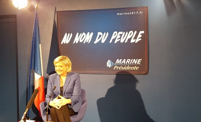 Donald Trump's foreign policies will be good for France, says Marine Le Pen