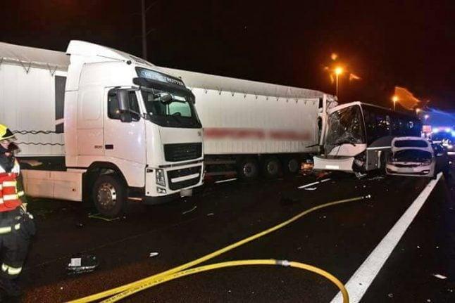 Motorway pile-up near Paris leaves dozens injured and road blocked