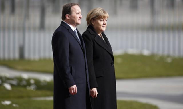 Trump on the agenda as Merkel meets Löfven in Stockholm