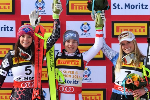 Swiss star Gut bumped to third in ski world champs