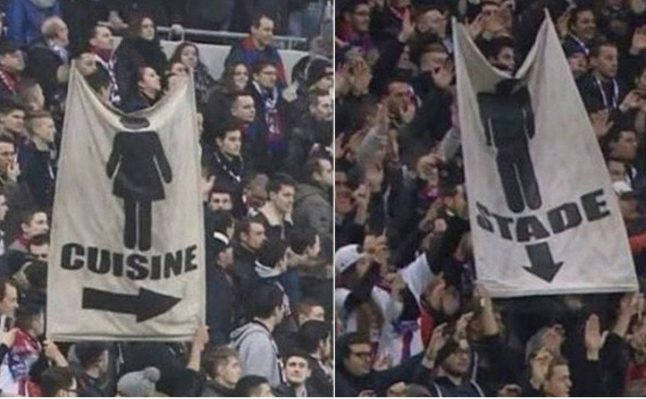 Free tickets for women after French football supporters show sexist banner