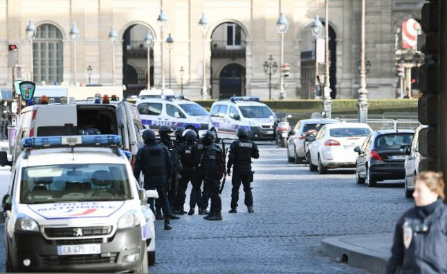 Police launch terror probe after machete attack on soldiers at Louvre