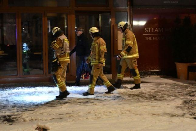 Three men die after fire breaks out at Berlin sauna club