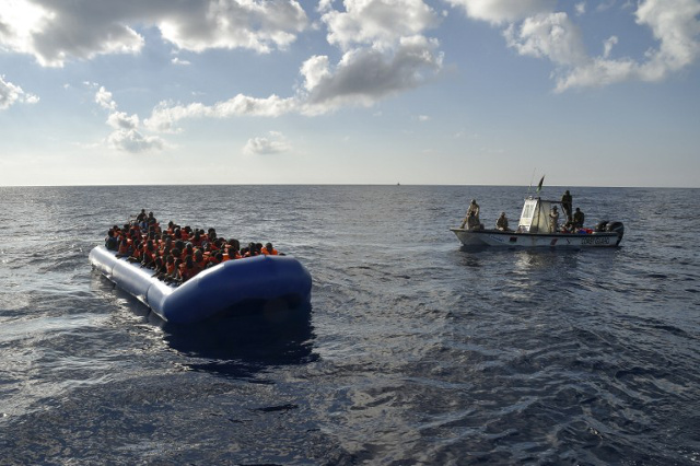 Italy rescued hundreds of people off the Libyan coast last night