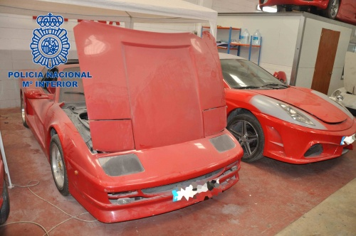 Gang transformed old Toyotas into fake Ferraris using bodyshell and stickers