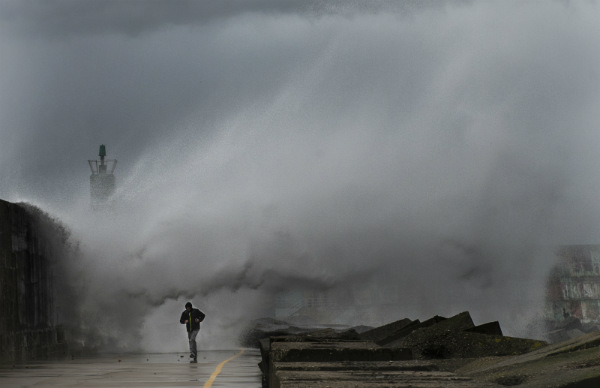 Northern Spain on red alert as storms batter coast