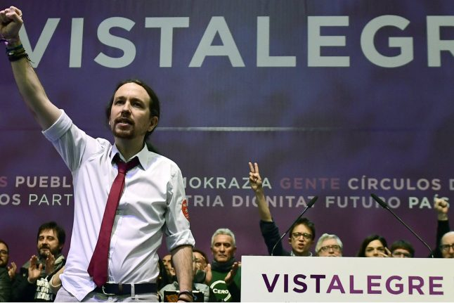 Leader of Spain's Podemos re-elected in resounding victory