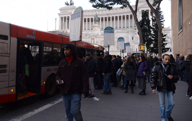 Rome public transport strike brings city to a standstill