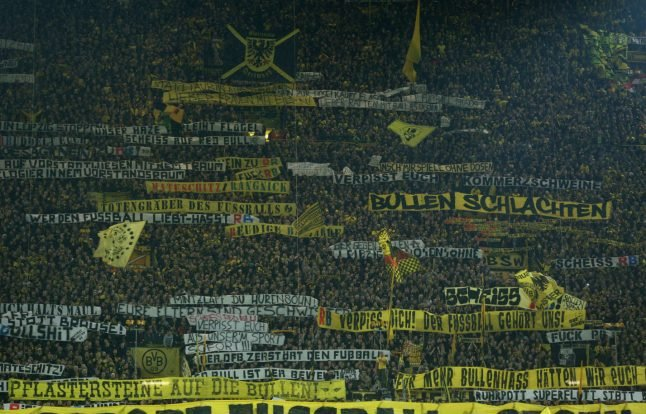 Dortmund fans 'shame football' with attacks on families before match