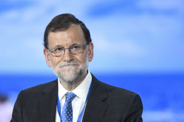 Spanish PM Rajoy re-elected head of his party