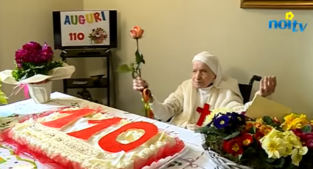 Italy's oldest nun shares tips for a long life on 110th birthday