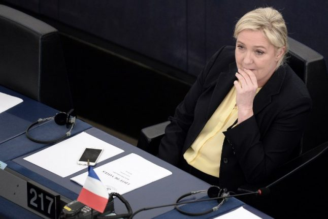 EU 'to dock Marine Le Pen's wages' to make up for €300,000 she owes Brussels