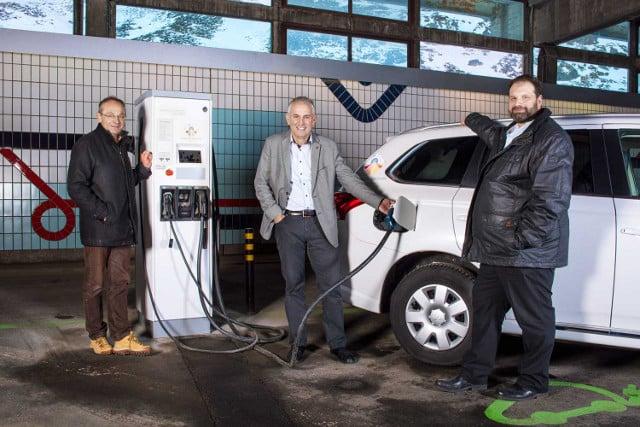 Switzerland installs first high alpine electric car charging point