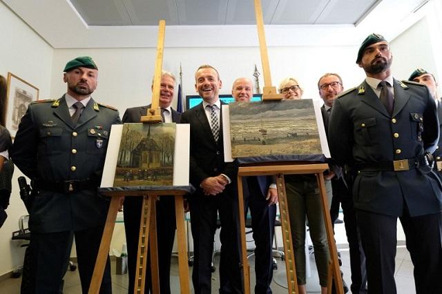 Van Goghs stolen in daring heist go on show in Naples